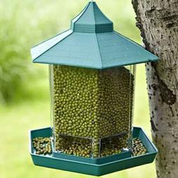 hanging bird feeder seed metal wild pet