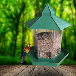 Hanging Bird Feeder Seed Metal Wild Pet Outdoor Garden Squir