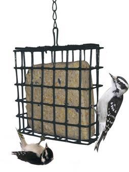 Hanging Bird Seed Cake Suet Feeder Green Metal Bird Feeder B