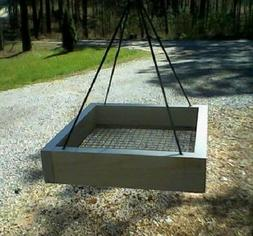 HANGING TRAY BIRD FEEDER
