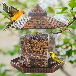 Hanging Wild Bird Feeder, Gazebo Bird Feeder and Garden Deco