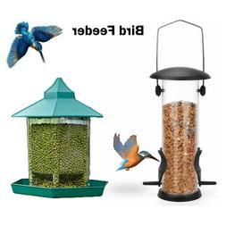 Hanging Wild Bird Feeder Squirrel Proof Seed Food Yard Garde