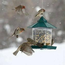 hanging wild waterproof bird feeder outdoor feeding