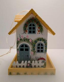 Home Bazaar HB-6007S Flower Cottage Bird Feeder, 1-3/4 lbs F