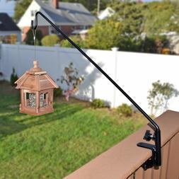 "Heavy Duty Bird Feeder Deck Hook Pole 37"" Wind Chime Lantern"