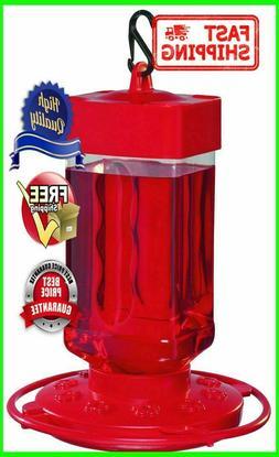 Hummingbird Bird Feeder Easy To Fill Jar Bright Red Color Ne