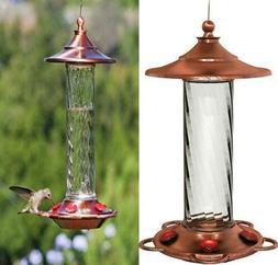 More Birds Hummingbird Feeder, Glass Feeders, Copper, Multic