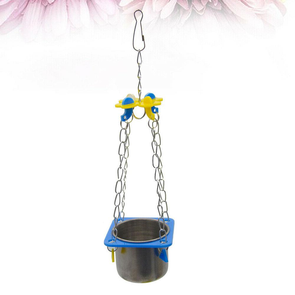 1 Pc Parrot Cup Stainless Pet for Squirrel
