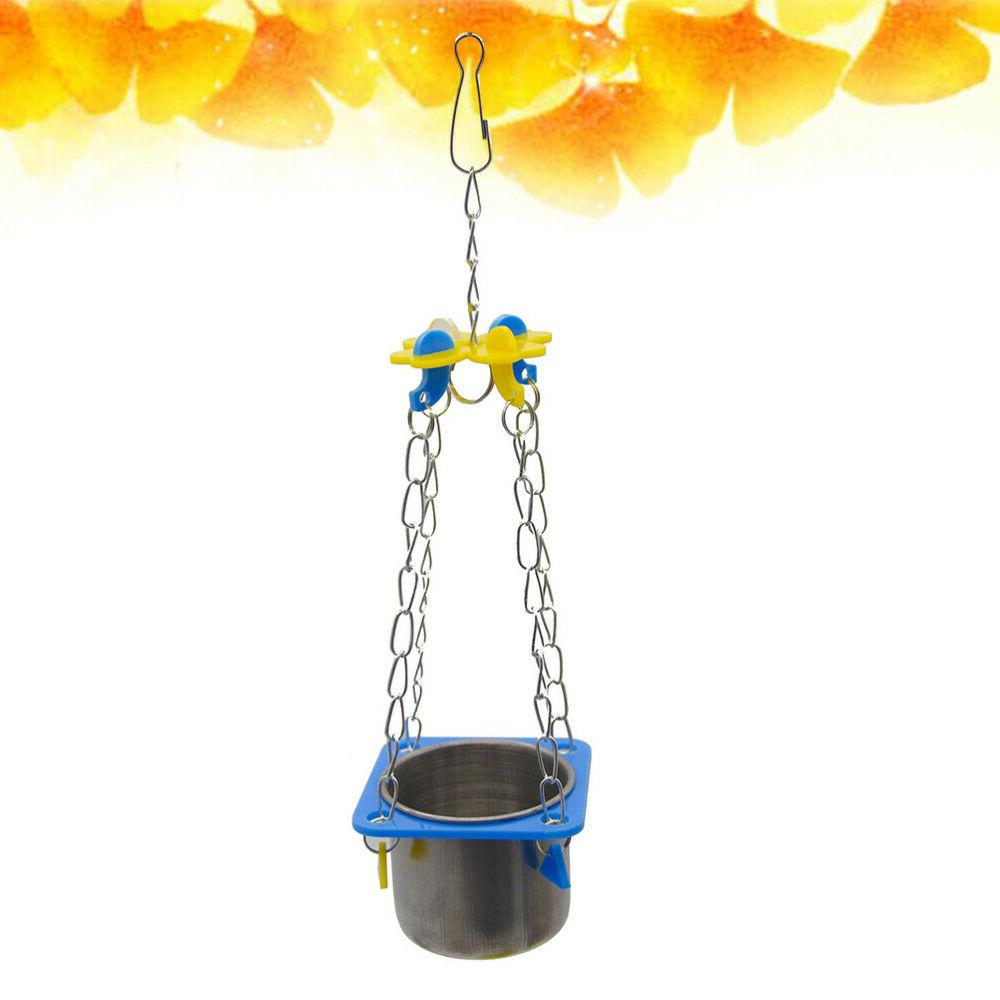 1 pc parrot food cup stainless steel