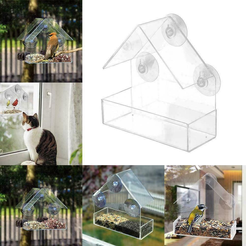 1 Plastic House Birdhouse Pet Suction W