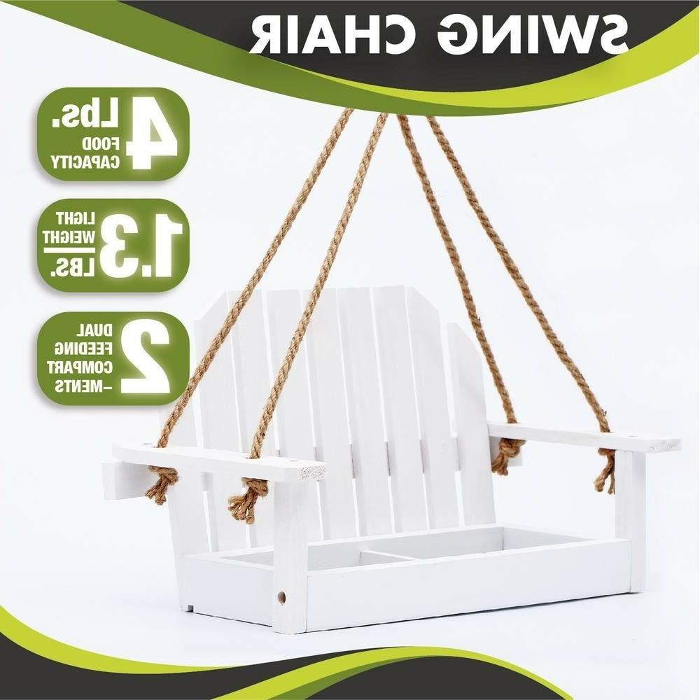 15 in white swing wood bench bird