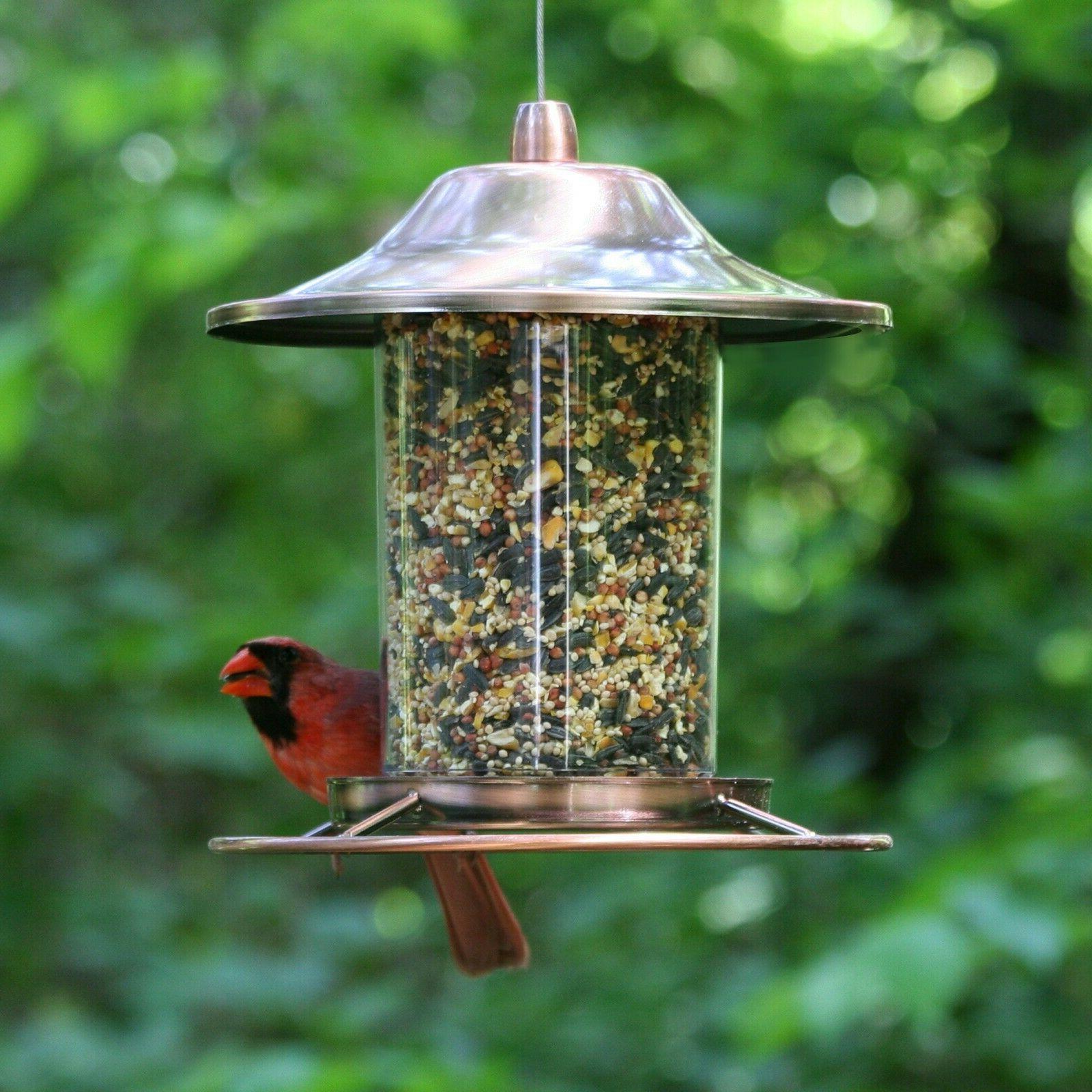 2 Bird Feeder Garden Fowl Food Feed Dispenser Birdfeeder Perch