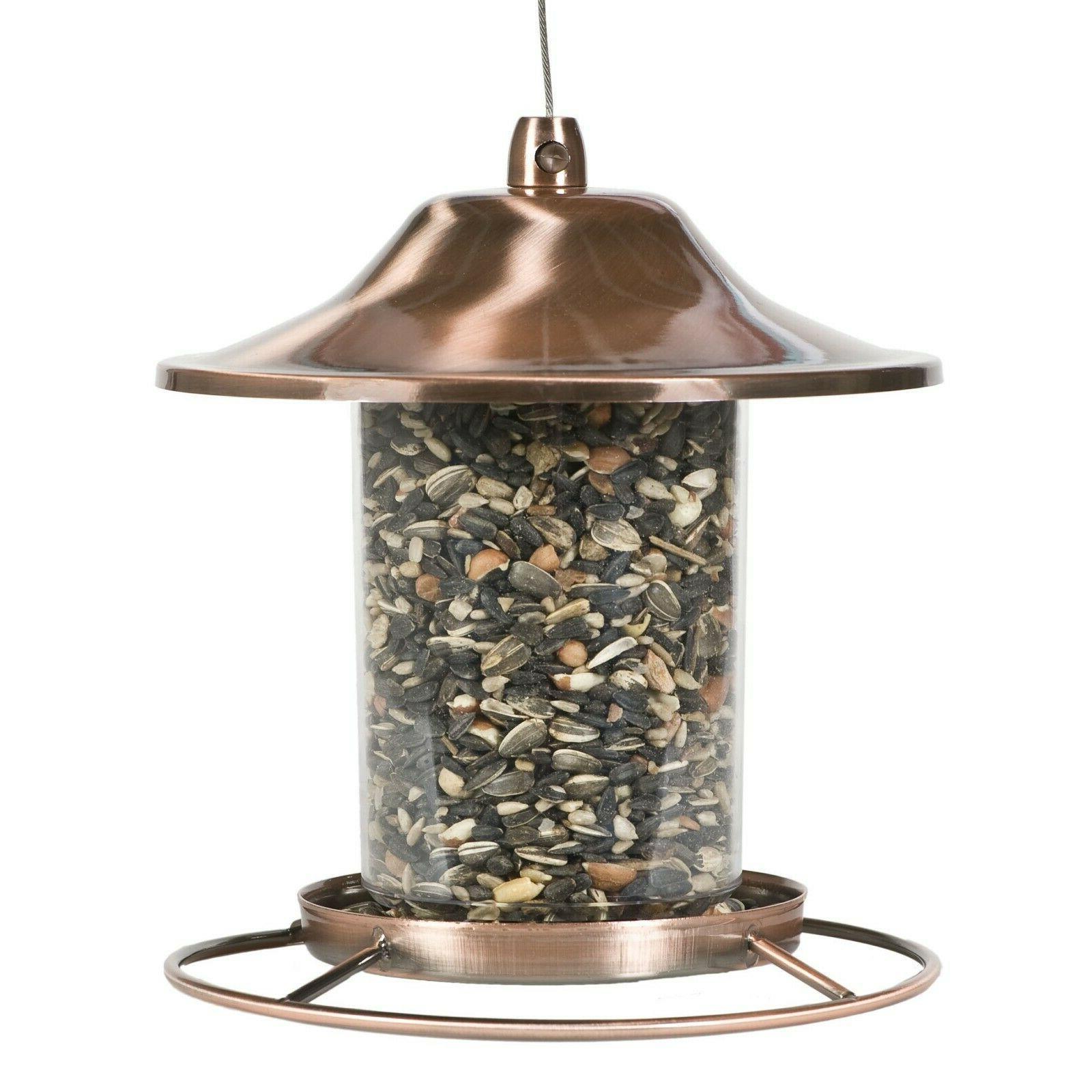 2 Lb Garden Seed Food Feed Dispenser Birdfeeder Perch