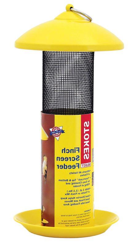 38171 finch screen bird feeder with metal
