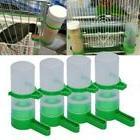 4x Bird Pet Food Drink Dispenser Feeder Bowl Waterer Clip fo