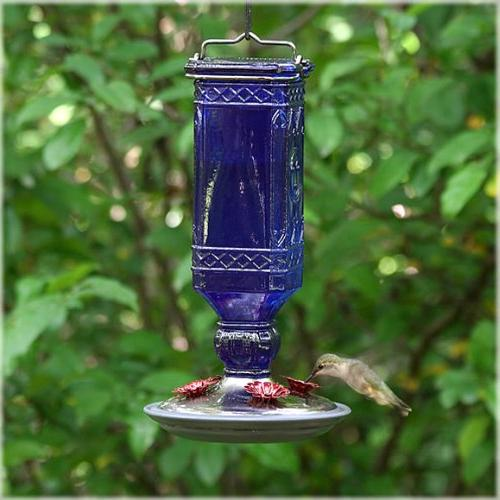 Perky-Pet Antique Bottle Hummingbird Feeder, 16