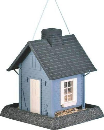 9085 blue cottage bird feeder