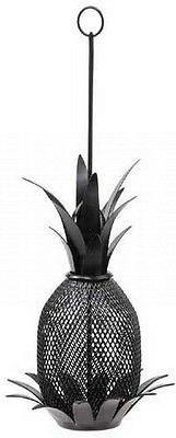 Achla Design Bird Feeder Pineapple Black powder coat 8 in. d