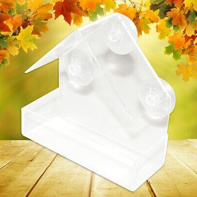 acrylic transparent bird squirrel feeder tray birdhouse