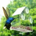 Acrylic Transparent Bird Squirrel Feeder Tray Birdhouse Wind