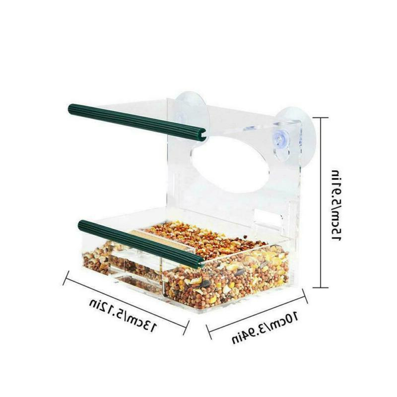 Suction Birdhouse Clear-Tray Pet