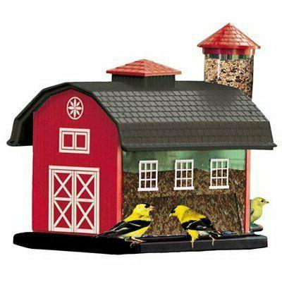 audubon red barn combo seed bird feeder