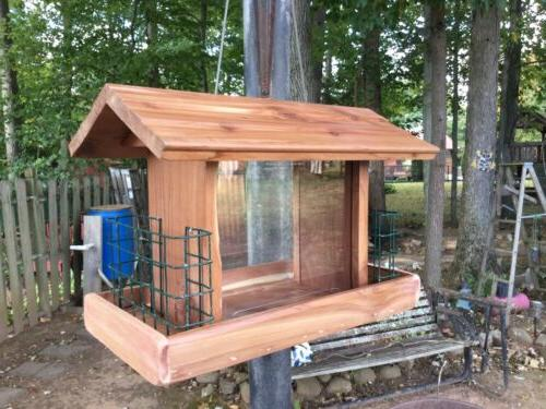 Beautifully Made combination Cedar Feeder Double holder