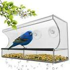 Best Window Bird Feeder With Strong Suction Cups  Seed Tray,