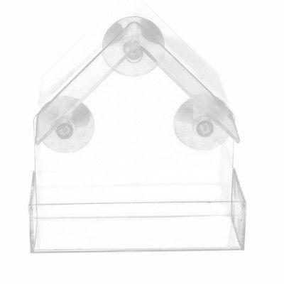 US With Suction Cups Transparent Acrylic Feeder
