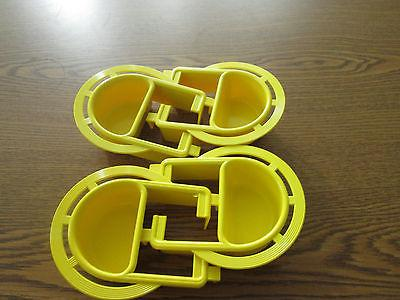 bird cage plastic extended feeder dish small