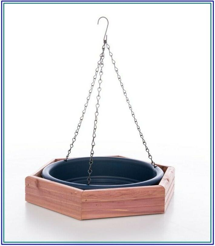 Bird Feeder Blue Cedar Platform Feeding Tray Weather-Resista
