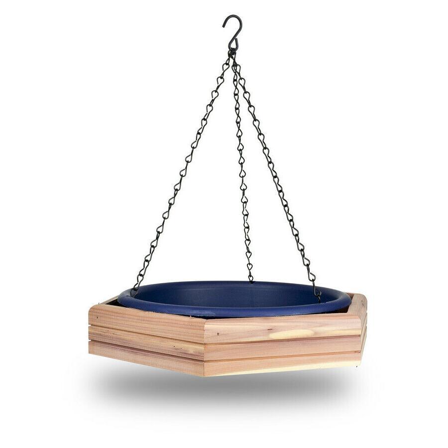 bird feeder blue cedar platform feeding tray