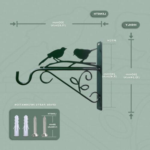 KINGSYARD Plant Hanger Bird Feeder Bracket for Planters