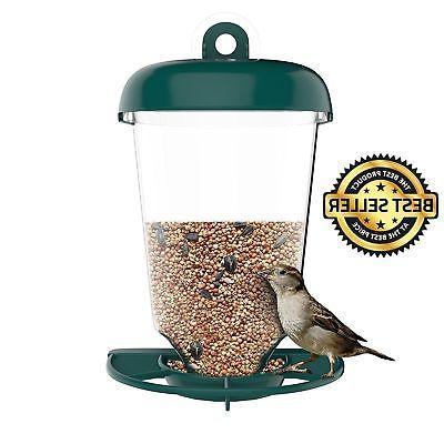 Bird Feeder Outdoor Wild Birds Window Station Garden Feeders