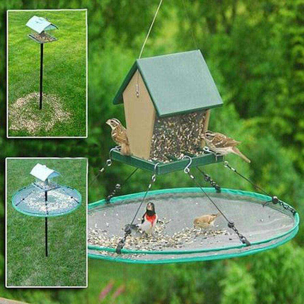 bird feeder seed catcher seed hoop platform