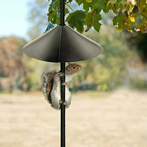 "Squirrel-X Squirrel Baffle for Bird Feeders 18/"" Steel Wrap Around BLK"