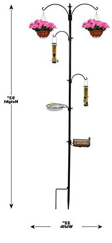 Sorbus Feeding Station, Metal Pole for Bird for Attracting Birds Backyard,