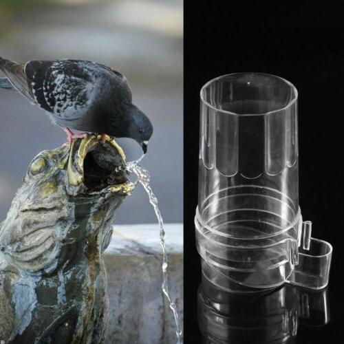 Hanging Bird Parrot Feeder Water Feeding Drinking Bowl Cage