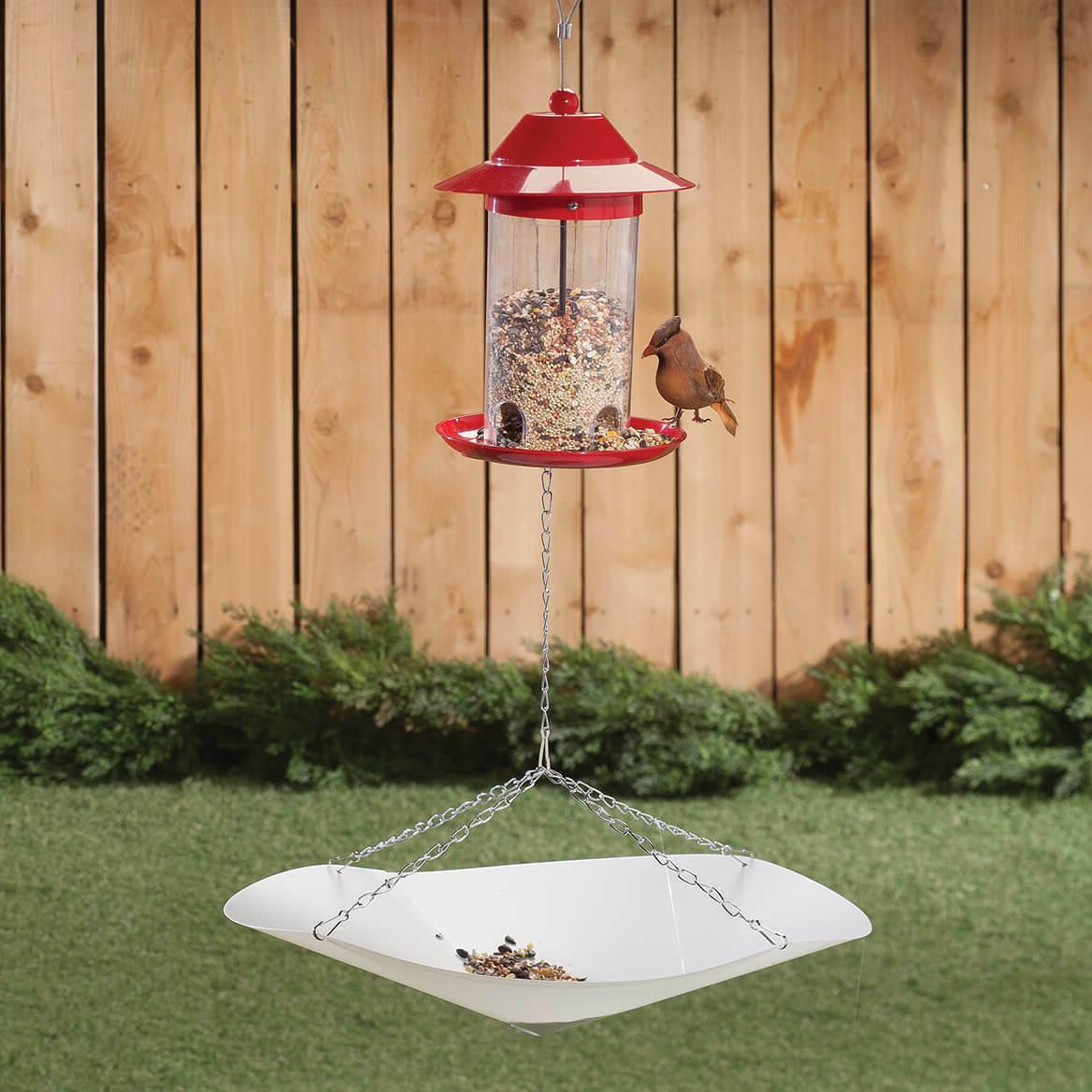 Bird Seed Catcher Hanging Plastic tray with chains Under bir