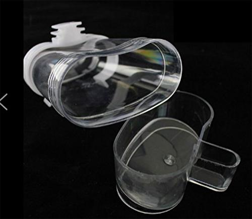 Cydnlive Bird Waterer Feeders, Bird Dispenser, Clear and By