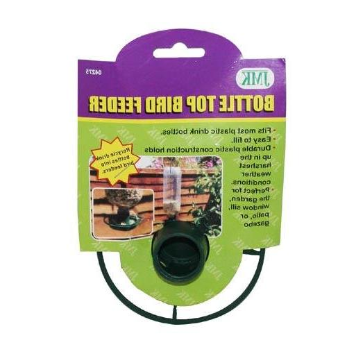 Bottle Bird Top Feeder Seed Green Tube Dome New Easy Wild Bi
