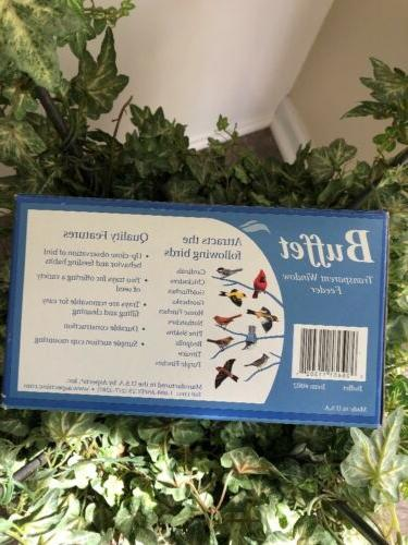 ASPECTS BUFFET FEEDER TWO SEED WINDOW BIRD