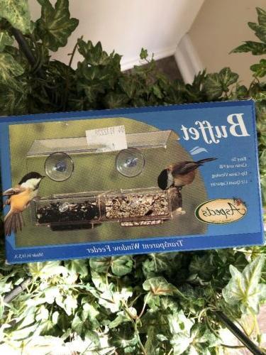 buffet bird feeder two tray seed window