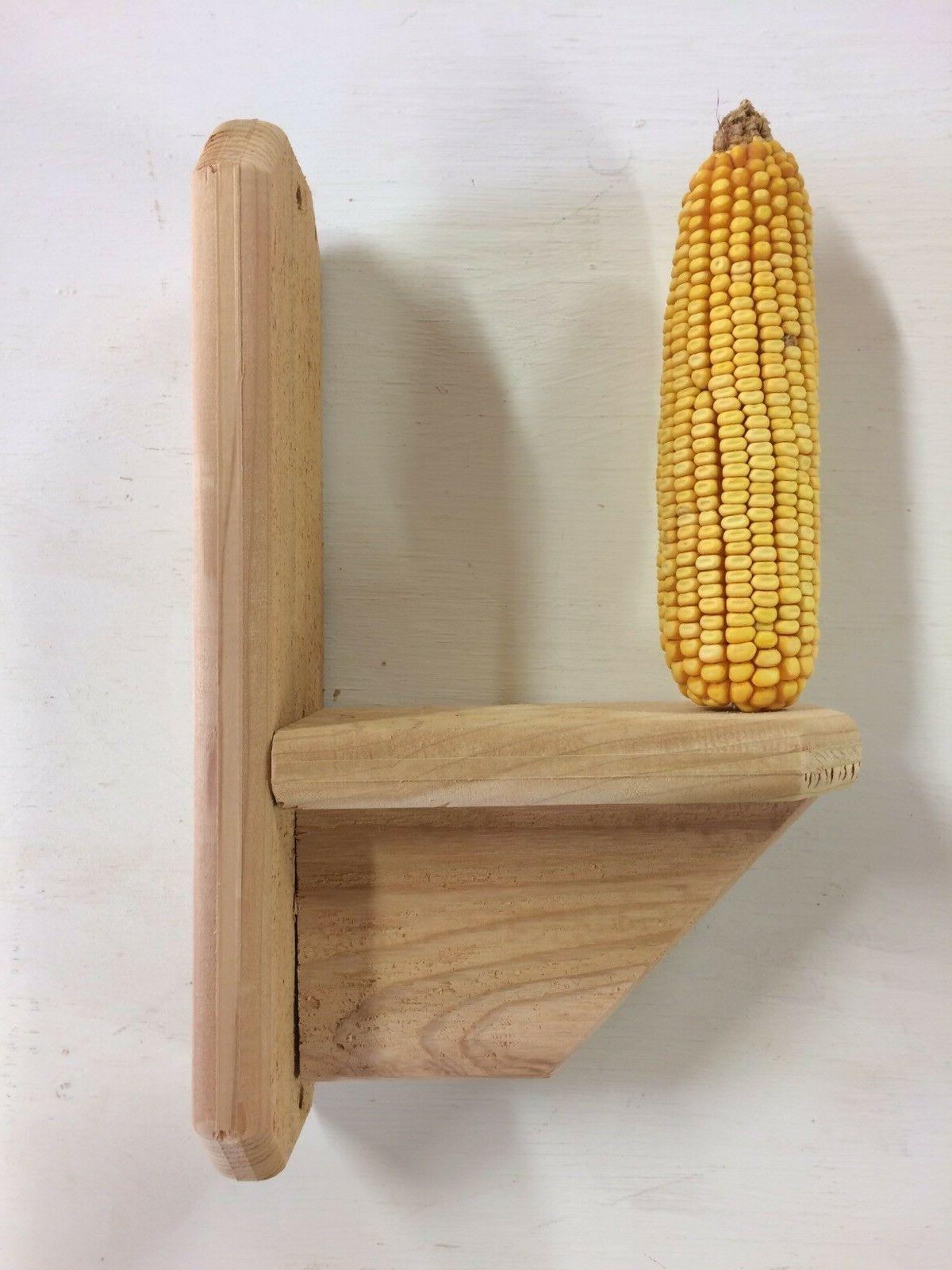 cedar squirrel feeder corn feeder