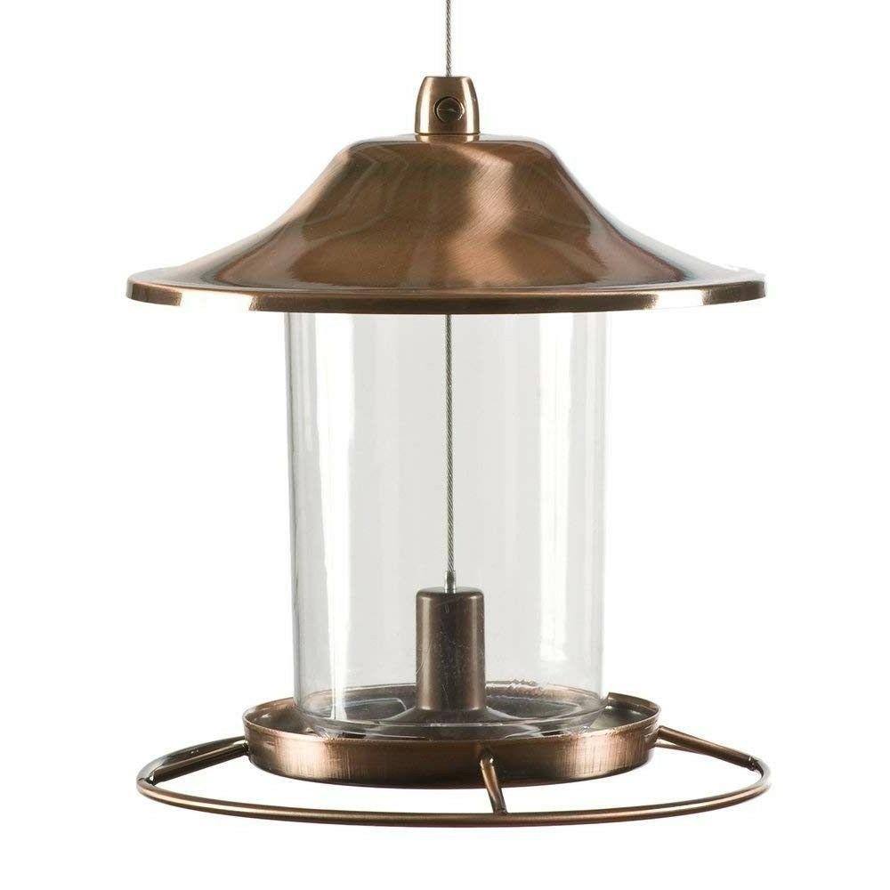 Copper Bird Feeder Vintage Outdoor Squirrel Proof Patio Back