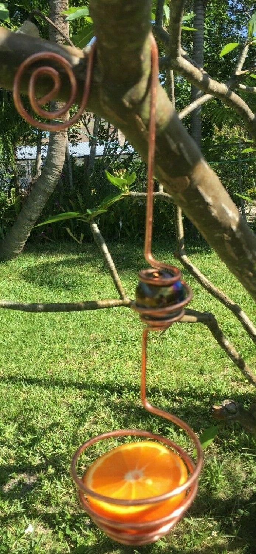 Copper Handcrafted Bird Feeder