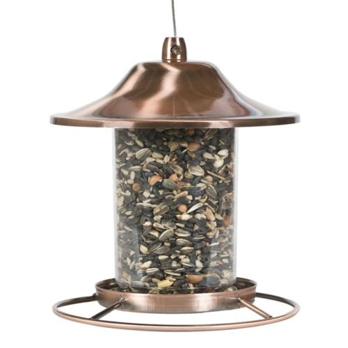Perky Pet Copper Panorama Bird Feeder Circular Food Dispense