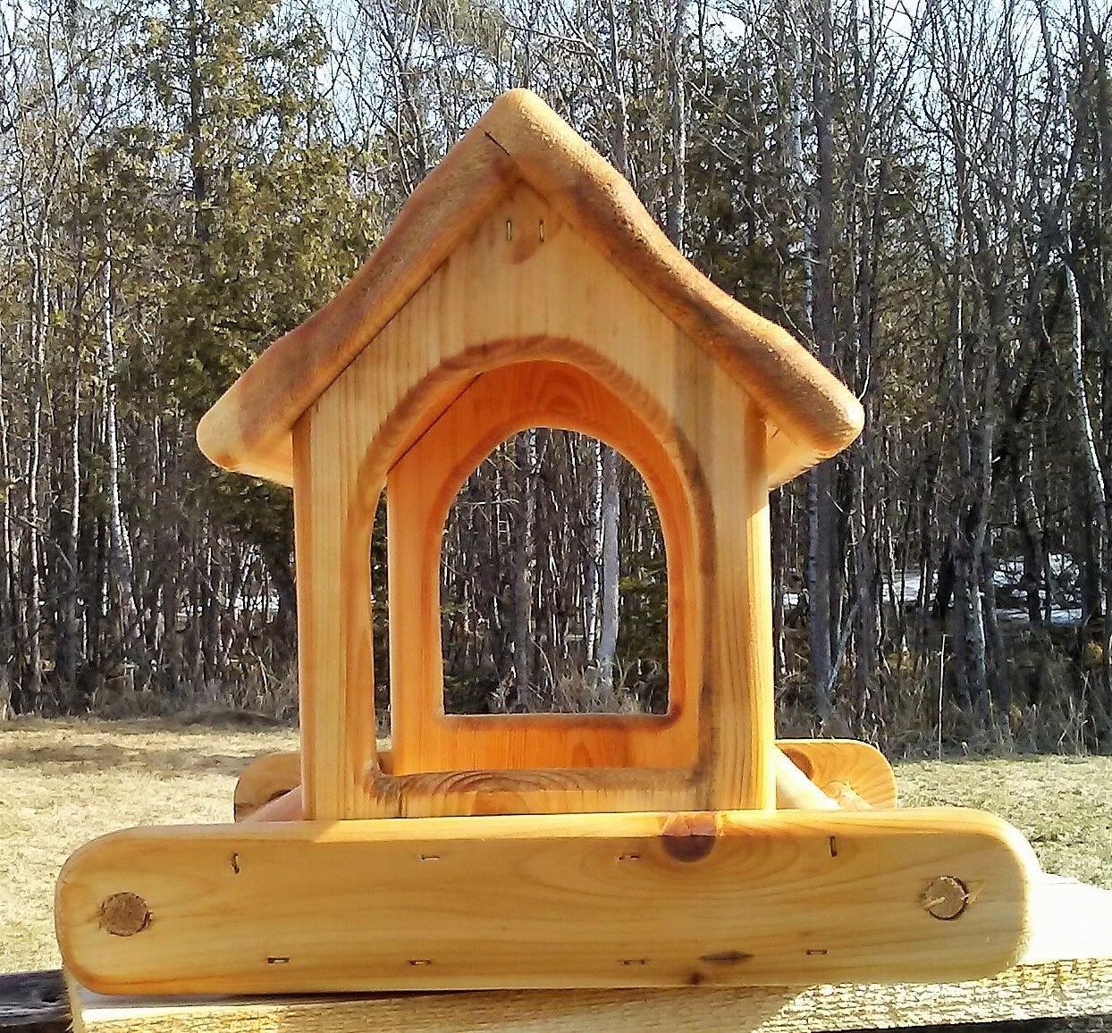 Cute wood fly platform bird / #2