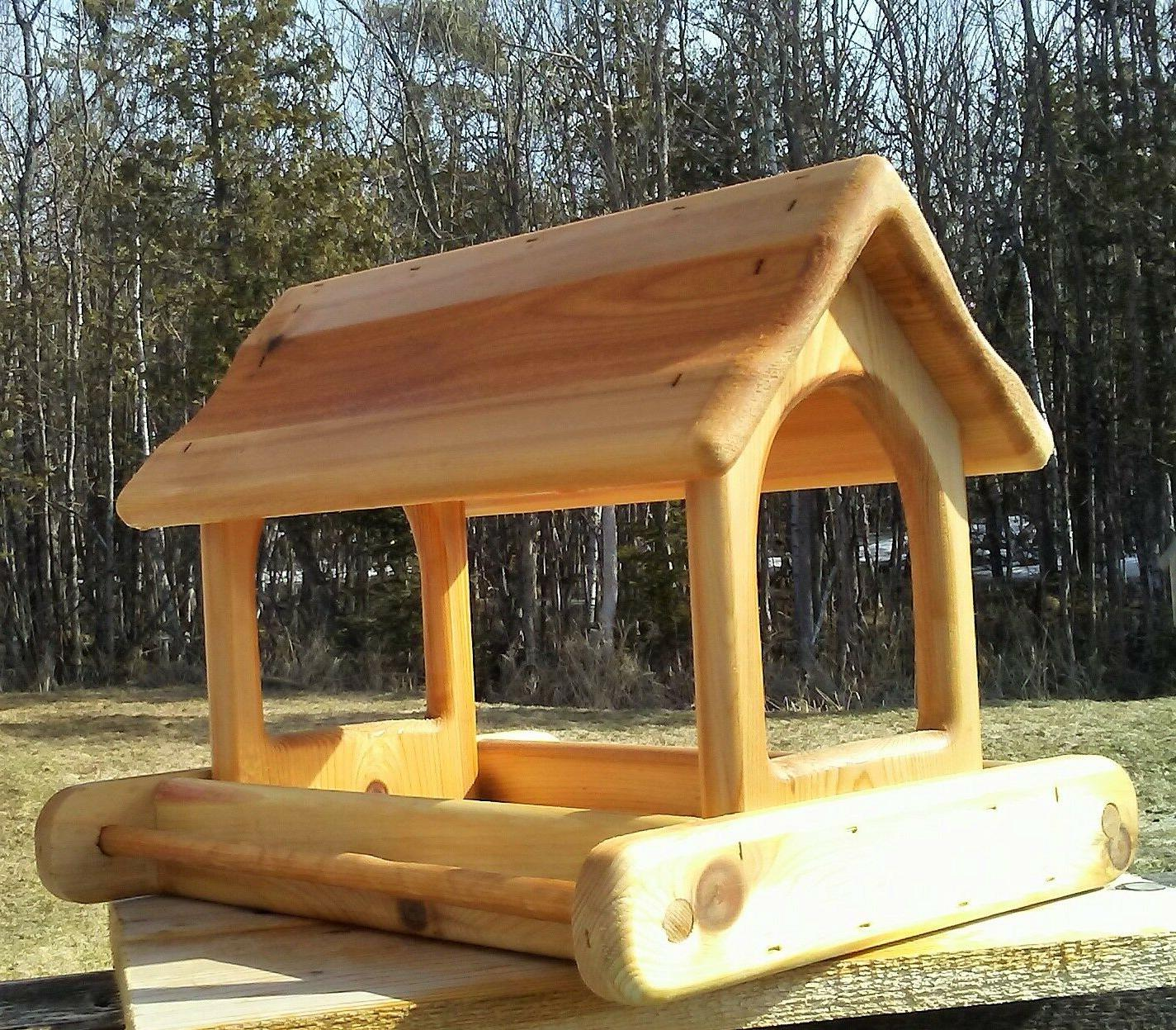 cute large cedar wood fly through platform
