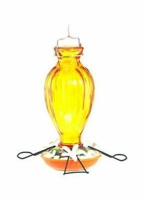 decorative glass oriole feeder